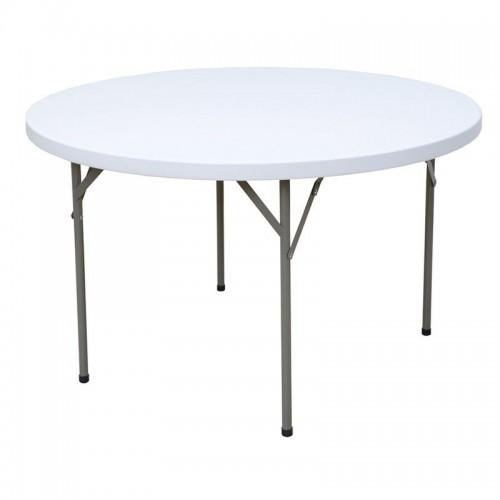 Table ronde pliante en HPDE