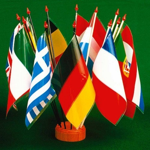 Drapeaux de table plastique - International