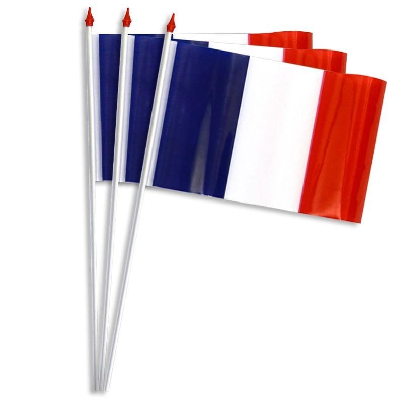Drapeaux de table plastique - France