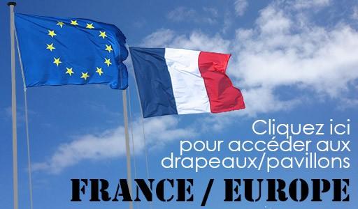 Drapeaux/Pavillons France/Europe